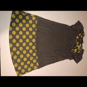 Savannah Yellow and Grey Dress